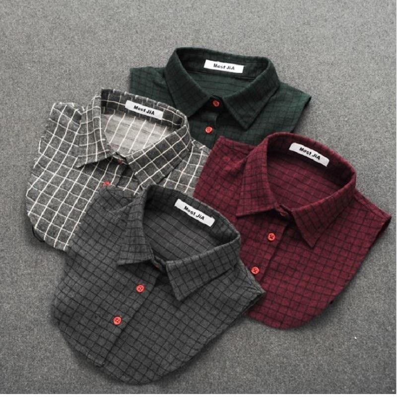 Men Women Shirt Collars Check Detachable False Collars Winter Fake Collar S L XL Cotton Classic Kid Adult Unisex Accessories