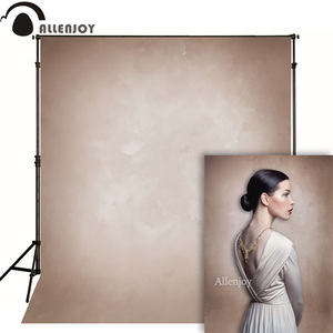 Image 1 - Allenjoy Vinyl cloth photography backdrop old master light brown grunge pure color background photo studio photobooth photophone