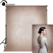 Allenjoy vinyle tissu photographie toile de fond ancien maître brun clair Grunge couleur Pure fond Photo Studio Photobooth Photophone