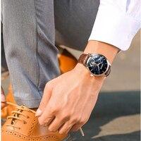 GUANQIN Tourbillon Switzerland Watches Original Men's Automatic Leather Watch Fashion Men Mechanical Wristwatch dropshipping