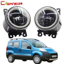 Cawanerl для peugeot Bipper, 2008- автомобиля H11 светодиодный светильник передние противотуманные фары светильник 4000LM глаза ангела дневного светильник DRL 12V