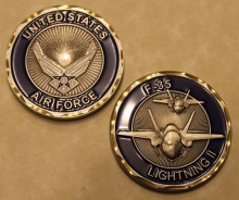 Free Shipping 4pcs/lot,F-35 Lightning II Air Force Challenge Coin