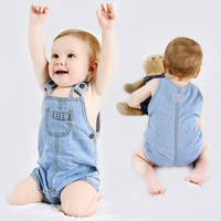 Baby Clothes 2017 Summer Baby Girls Body Suit Denim Bobo Choses Boys Rompers Sleeveless Newborn Jumpsuits