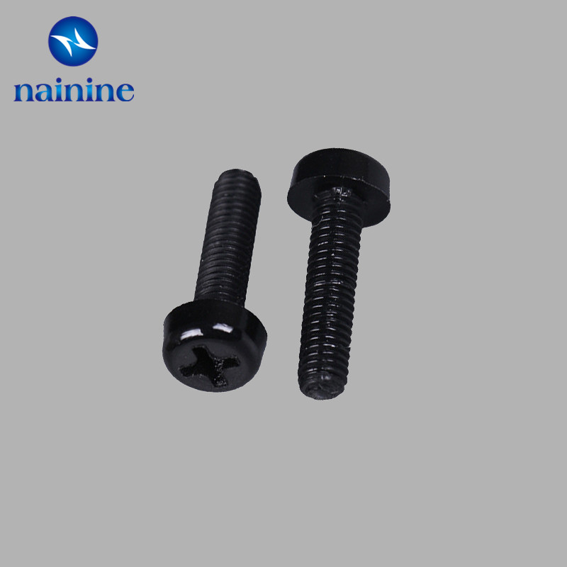 50Pcs M2 M2.5 M3 M4 ISO7045 DIN7985 GB818 Nylon Cross Recessed Pan Head Screws Plastic Spacer Phillips Screw NL12 300pcs set iso7045 din7985 gb818 m2 m2 5 m3 nickel plated cross recessed pan head phillips screws hw028