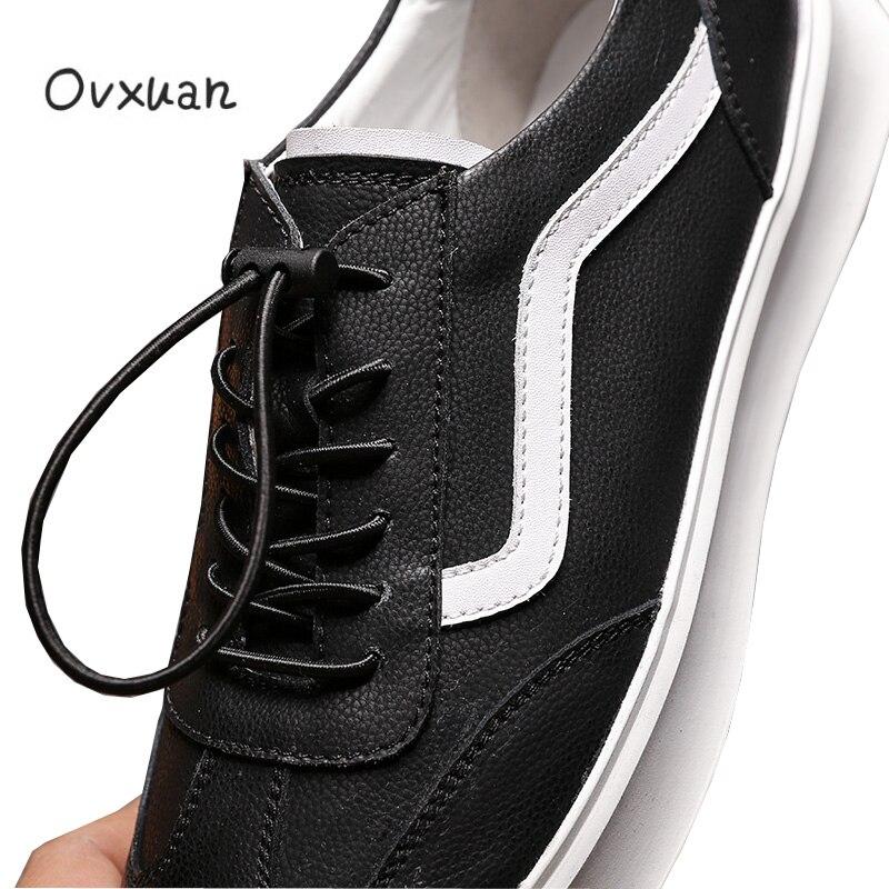 100 Streifen Ovxuan Handgefertigten Casual Leder Schwarzes Slipper Klassische Herren Mann Männer Wohnungen Design Sport Schuhe Echtes Fdd8qT1