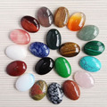 Free shipping 20pcs/lot 25*18mm Mixed Natural stone Oval CAB CABOCHON teardrop Wholesale opal/rose quartz/Tiger eye stone beads
