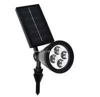 Waterproof IP55 Portable LED Outdoor Solar Powered Spotlight Easy to control 4*0.06w Led Landscape Light Solar Garden Lamp