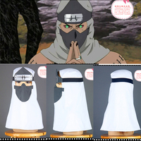 Naruto Akatsuki Kakuzu Hood Cosplay Mask Ninja COS Hooded Masks Accessories