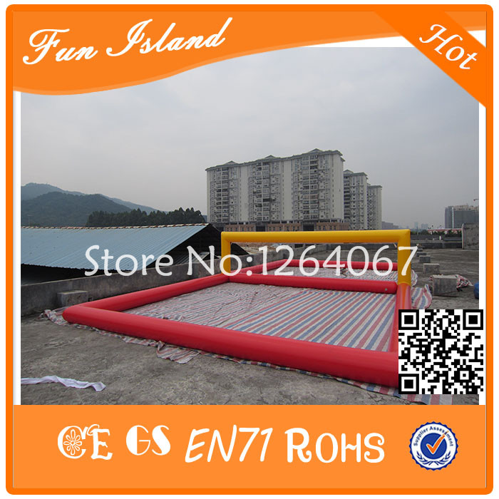 Free Shipping Giant Inflatable Sports Games For Adult,Inflatable Volleyball Court,Used Volleyball Sport Court free shipping 12 6 inflatable water sports games inflatable volleyball field inflatable beach volleyball field free a pump