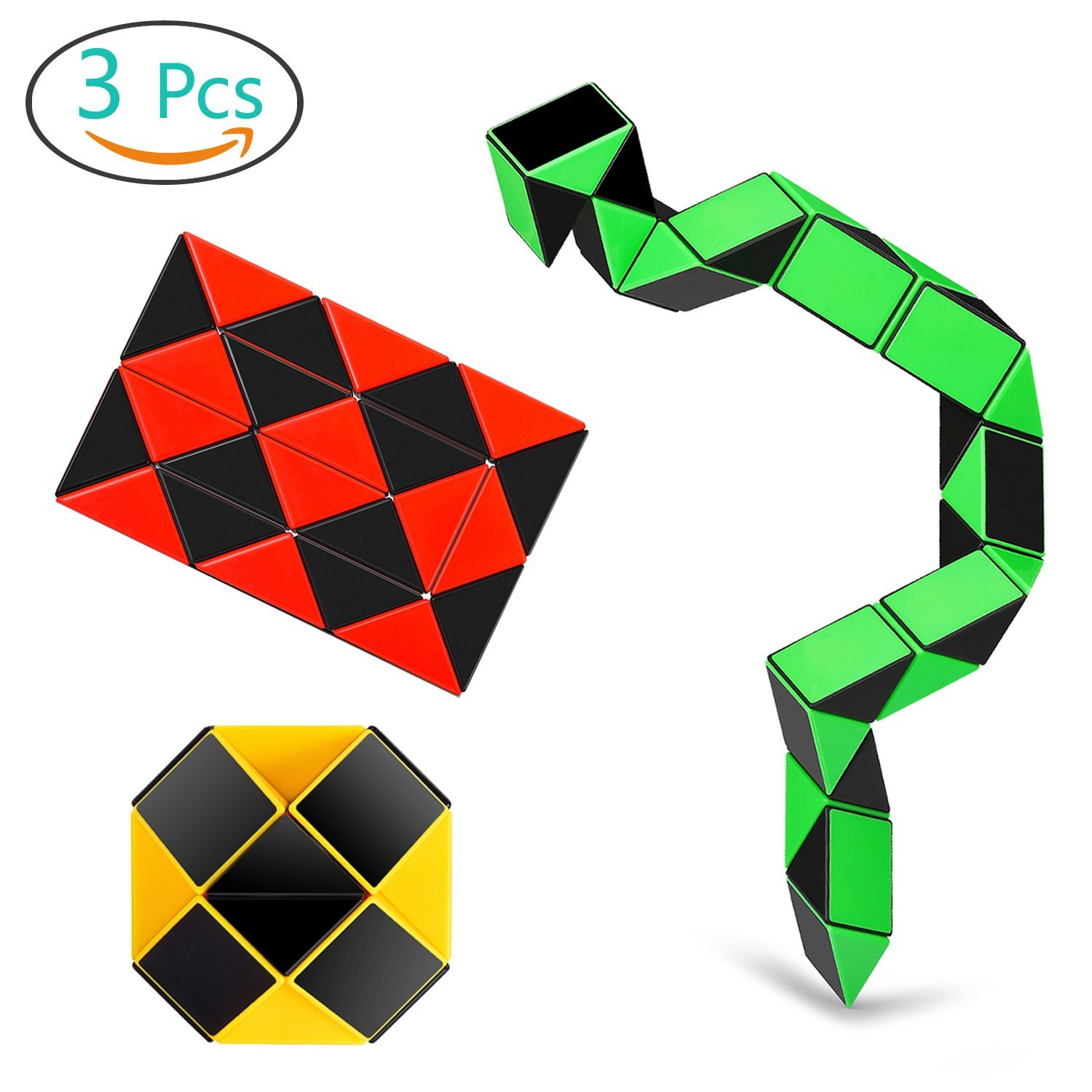 Original New Magic 144 Snake Twist Cube Puzzle Ruler 3d Snake Toys Children Educational Special Gifts Diy Toys Learning&educational Cubo Puzzles & Games