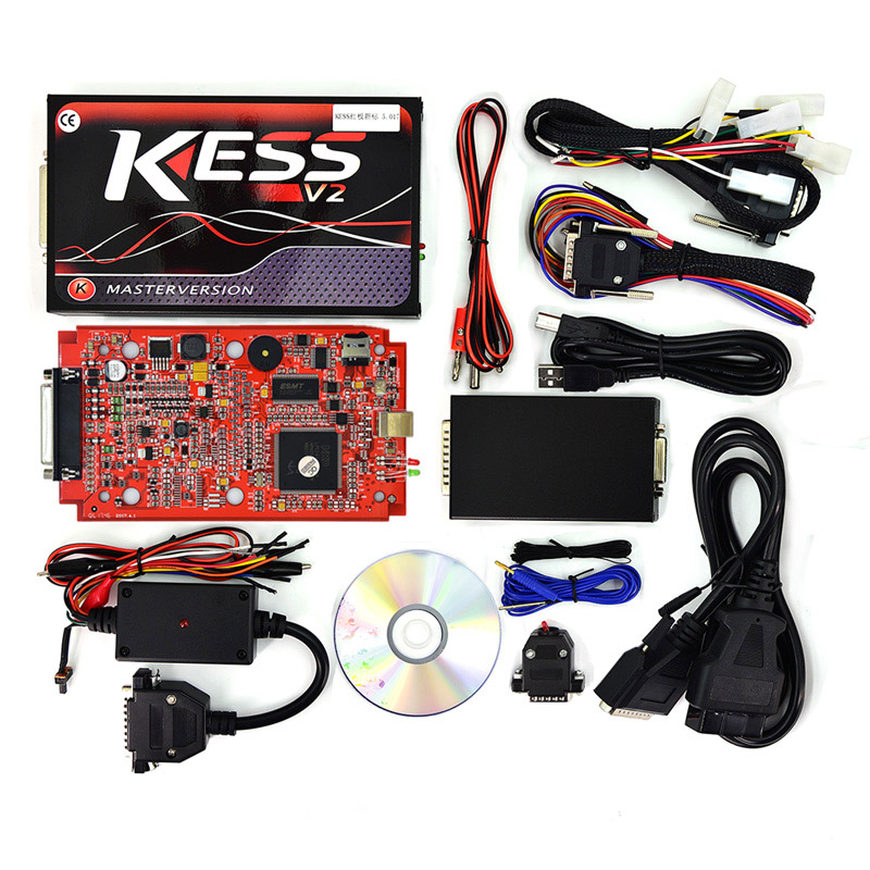 RED PCB HW V5.017 KESS V2 OBD2 Manager Tuning Kit KESS V2.23 Use Online Master Add 140 Protocol Than V4.036 For Car Truck 2017 online ktag v7 020 kess v2 v5 017 v2 23 no token limit k tag 7 020 7020 chip tuning kess 5 017 k tag ecu programming tool
