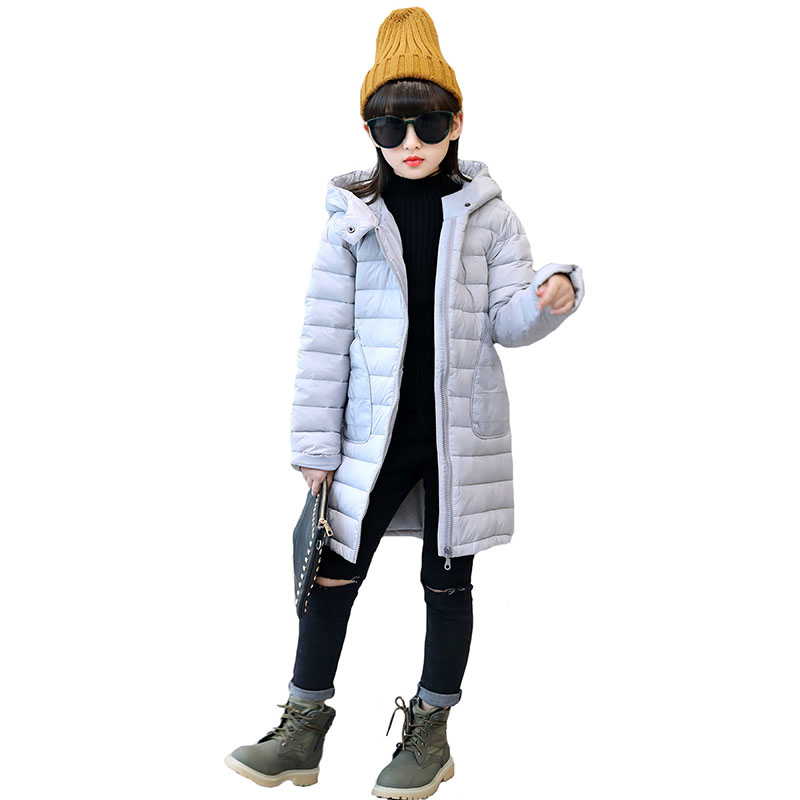 hooded children thick down coat winter 2017 long warm jacket for girls kids coats for little big girl outerwear clothing 8 10 12 mmc brand children s winter thick warm brief style gradient splice high quality hooded down coats for girls 90