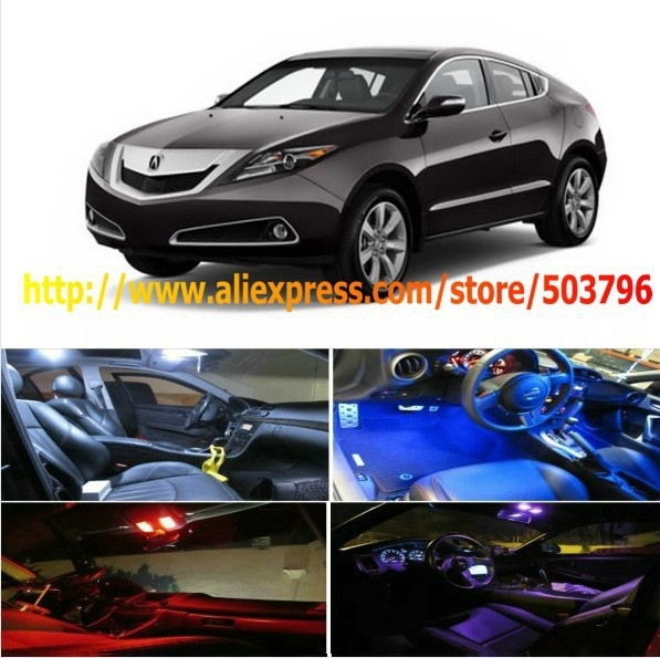Free Shipping 4Pcs/Lot car-styling LED Interior Package Combo Kit High Power LED Dome Lights For Acura ZDX 2010-2012