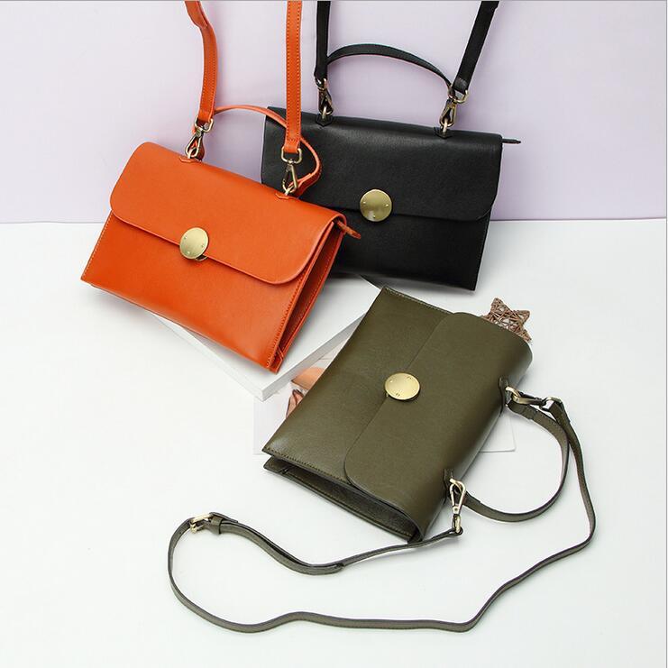 ФОТО 2016 Fashion new Women Genuine Leather Handbags ladies messenger bag crossbody bag Brand designer tote bag bolsos free shipping