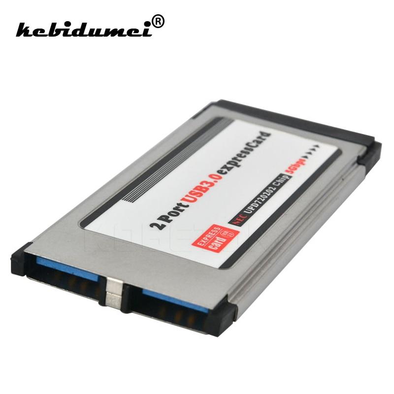Kebidumei PCI экспресс-карта на USB 3,0 Экспресс-карта адаптер с 2 портами 34 мм экспресс-карта конвертер 5 Гбит/с для ноутбука компьютера