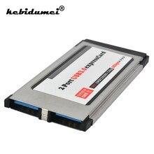 Kebidumei pci express cartão para usb 3.0 expresscard 2 adaptador de porta 34mm conversor de cartão expresso 5gbps para computador portátil
