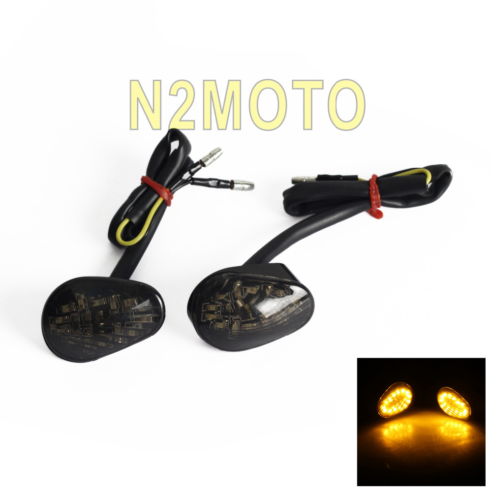 Motorcycles Turn Signal Light Flush Mount Amber Indicator Lamp For YAMAHA YZF R1 R6 R6S 2002-2009 Smoke Flasher Light