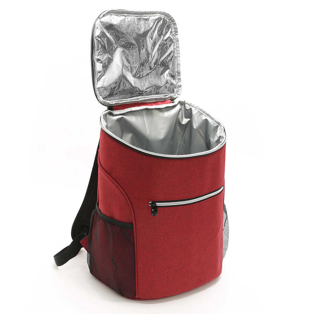 20l saco isolado ao ar livre refrigerador luch tote bento térmico saco de acampamento ao ar livre churrasco piquenique alimentos frescura refrigerador supermercado ombro