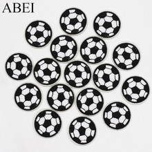 10pcs/lot Embrioidered Football Patches for boy bags clothes jeans Iron on Cartoon Stickers Handmade Garment Appliqued Supplier(China)
