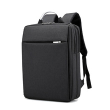 Portable for 15 Inch Business Men Laptop Backpack Computer Notebook Backpacks Case Accessories Outdoor Travel Bags Soild Oxford