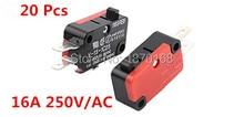 цена на 20 Pcs / Lot 250V 16A Microwave Oven Door Arcade Cherry Push Button SPDT 1 NO 1 NC Micro Switch V-15-1C25