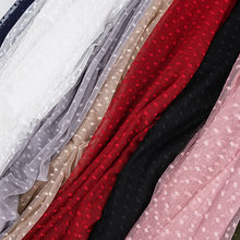 Fashionable mesh lace fabric jacquard mesh fabric wedding fabric for sewing dress and girl's tulle skirt 45X150cm/pcs TJ1931(China)