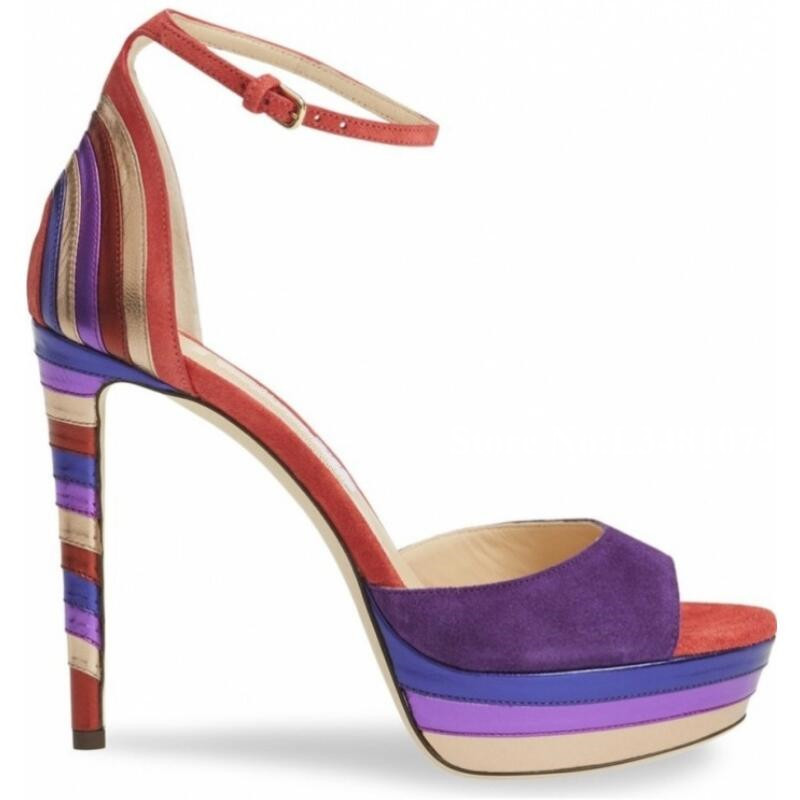 2019 Newest Mixed Color Platform Sexy Thin High Heel And Open Toe Buckle Strap Cover Heel Summer Fashion Women Sandals2019 Newest Mixed Color Platform Sexy Thin High Heel And Open Toe Buckle Strap Cover Heel Summer Fashion Women Sandals