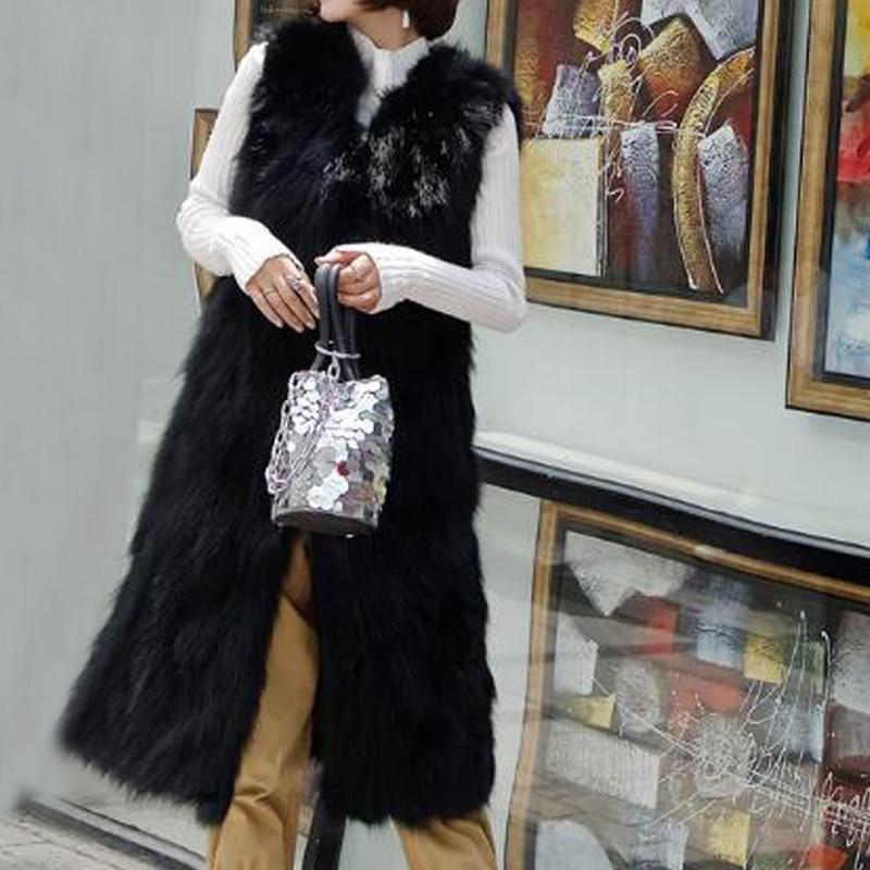 2019 New Top Brand TONFUR wsr395 Genuine Thick Long Customize Plus Size Real Raccoon Fur Vest Ladies Gilet Retail Wholesale Fur