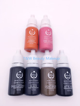 6 Bottles 15ml/Bottle Tattoo Ink For Eyebrow Makeup Pigment Permanent Makeup Ink- 23 Colors To Be Choosed