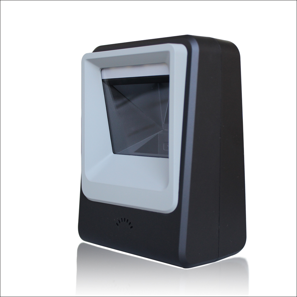 Freeshipping omni direcional scanner 2d ticketing qr code scanner leitor de código de barras usb desktop 2d plataforma digitalização