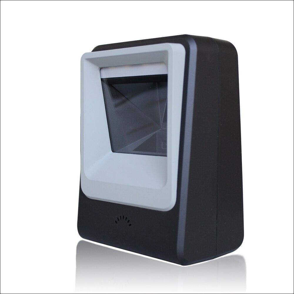 Livraison gratuite omnidirectionnelle Scanner 2D Scanner billetterie QR Code Scanner USB lecteur de codes à barres bureau 2d plate-forme de numérisation