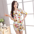 two piece set 2016 new fashion Cotton Lovely Cartoon printing Doll The explosion 2 piece set women harajuku shorts t shirt women