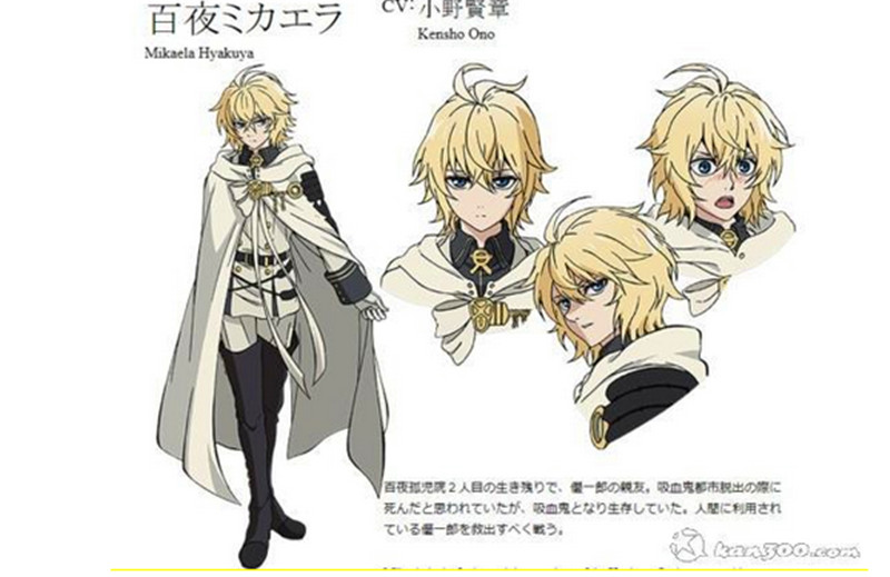 New! Seraph Of The End Mikaela Hyakuya Short Blonde Anime Cosplay Wig Owari no Synthetic Hair Cheap Wigs