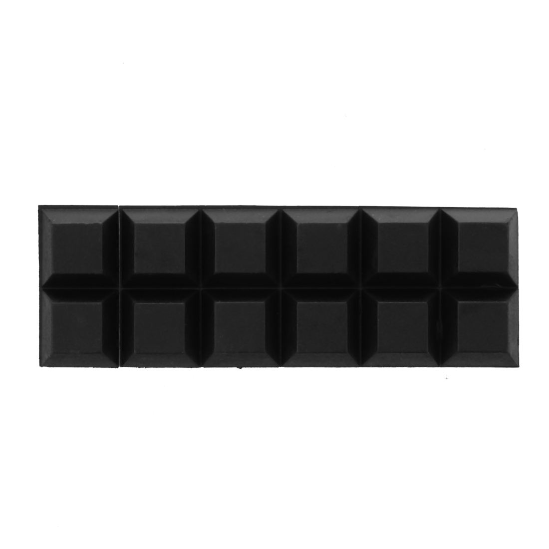 Wholesales Chair Furniture Square 12mmx12mmx6mm Self Adhesive Rubber Pads 12 In 1