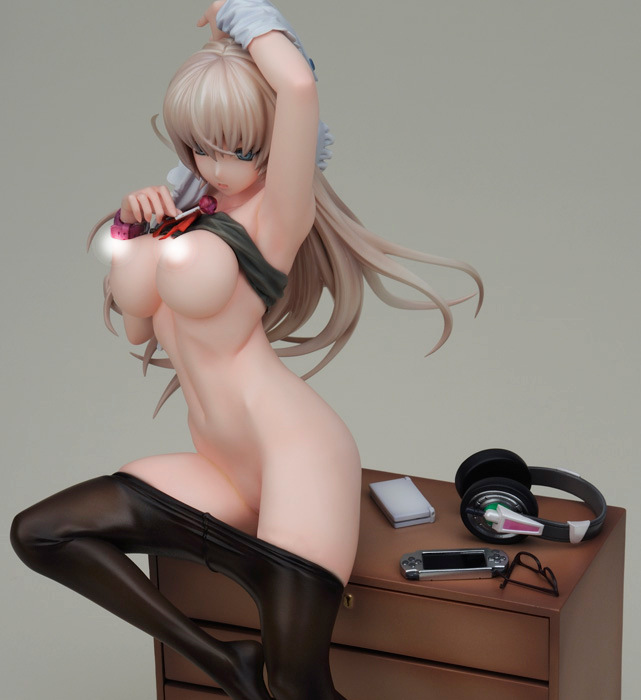 ФОТО Newest arrival 1pcs Native Sex GAMER GIRL on black stocking action pvc figure toy tall 18cm in box.