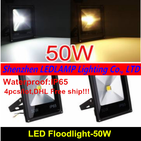 4pcs/lot 50W led floodlights lighting outdoor spotlights spot flood lamp garden light DHL Free патрон цанговый bosch 2608570105