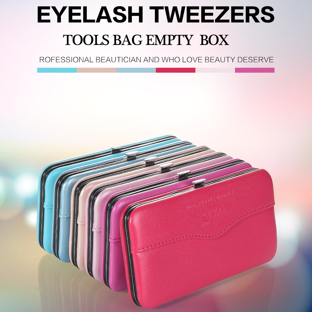 New Professional Makeup Tools Bag for EyeLash Extension Tweezers Tool Storage Box Beauty Eyelashes tweezer Case
