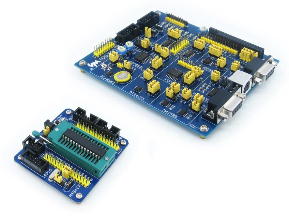 Free shipping  5PCS  The ATmega48 AVR development board learning board core board minimum system mega48PA board