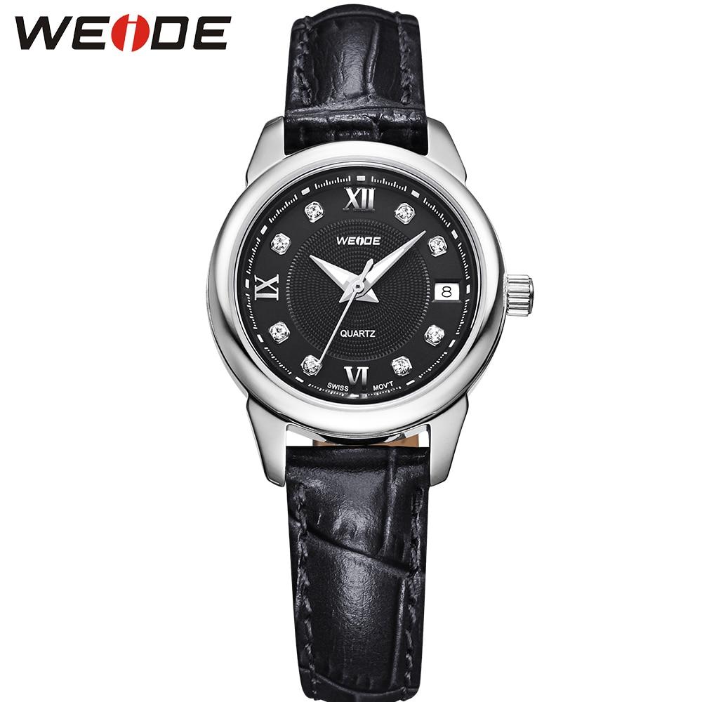ФОТО WEIDE Popular Brand Women Watch Leather Strap Famous Casual Watches Quartz Movement 30m Waterproof Relogio Feminino Gift Items