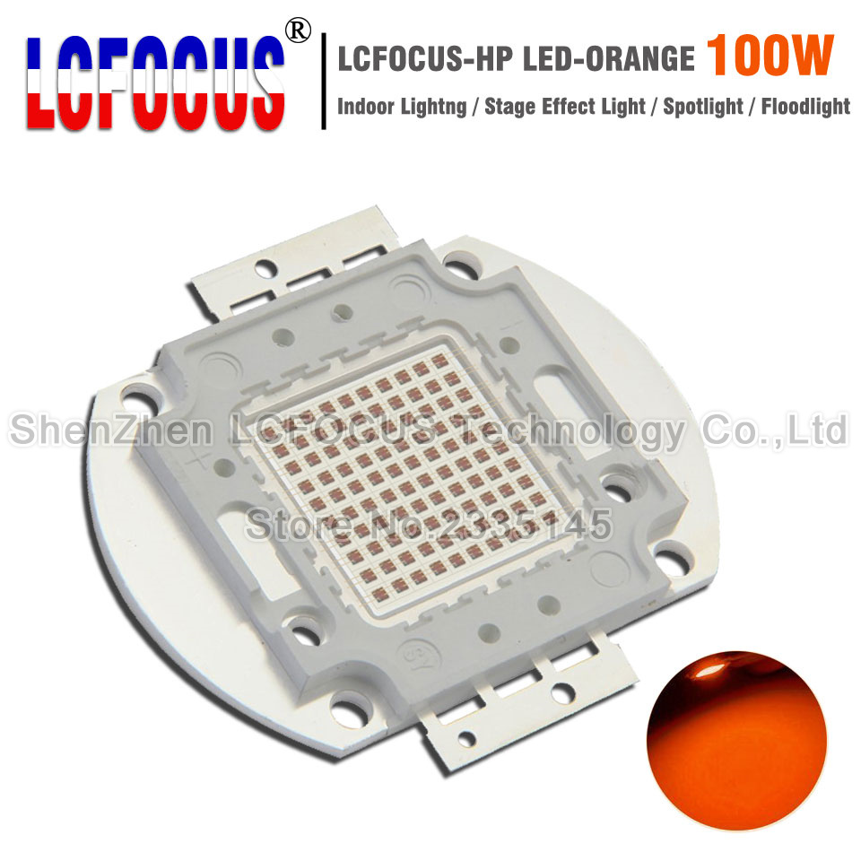 High Power LED Chip 100W Orange 600-605nm COB Diode DIY Outdoor Floodlight Spotlight Bulb Lamp For 100 200 W Watt Light Beads цена