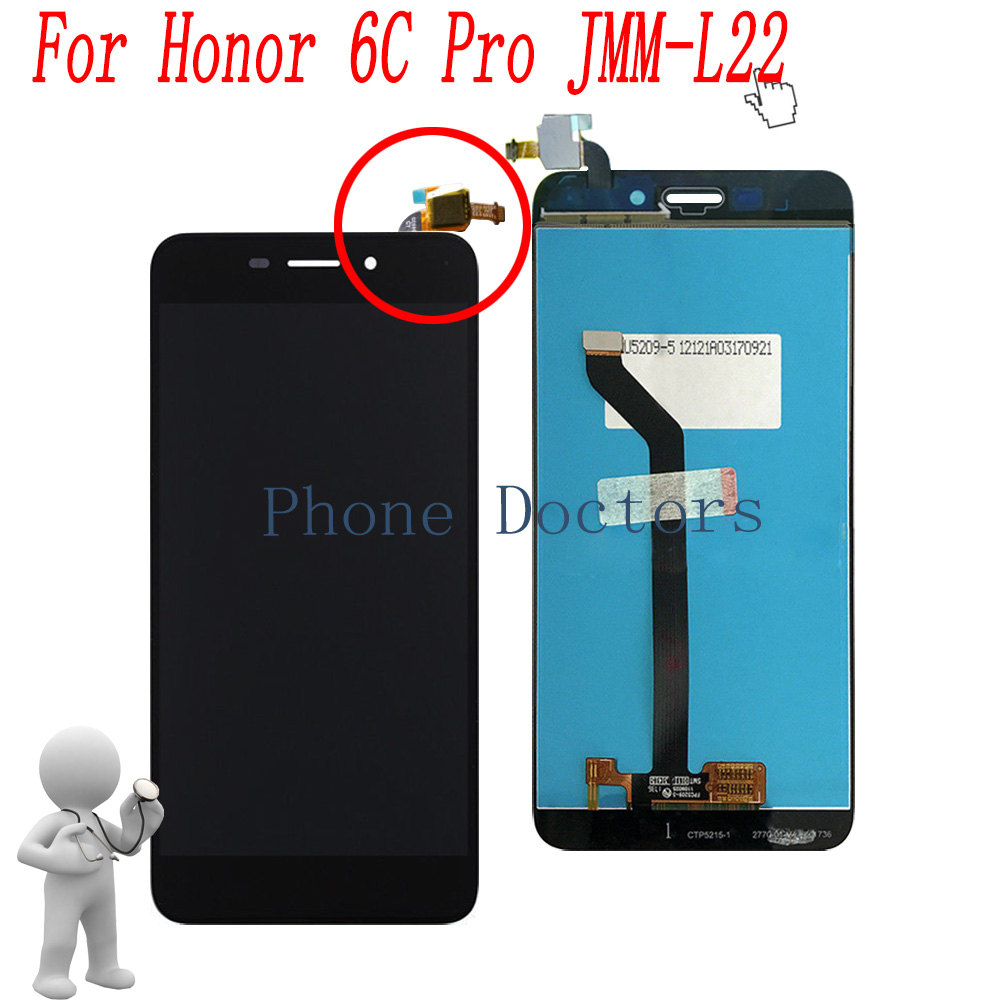 5.2'' Full LCD DIsplay + Touch Screen Digitizer Assembly For Huawei Honor 6C Pro JMM-L22 ; Black ; New ; 100% Tested