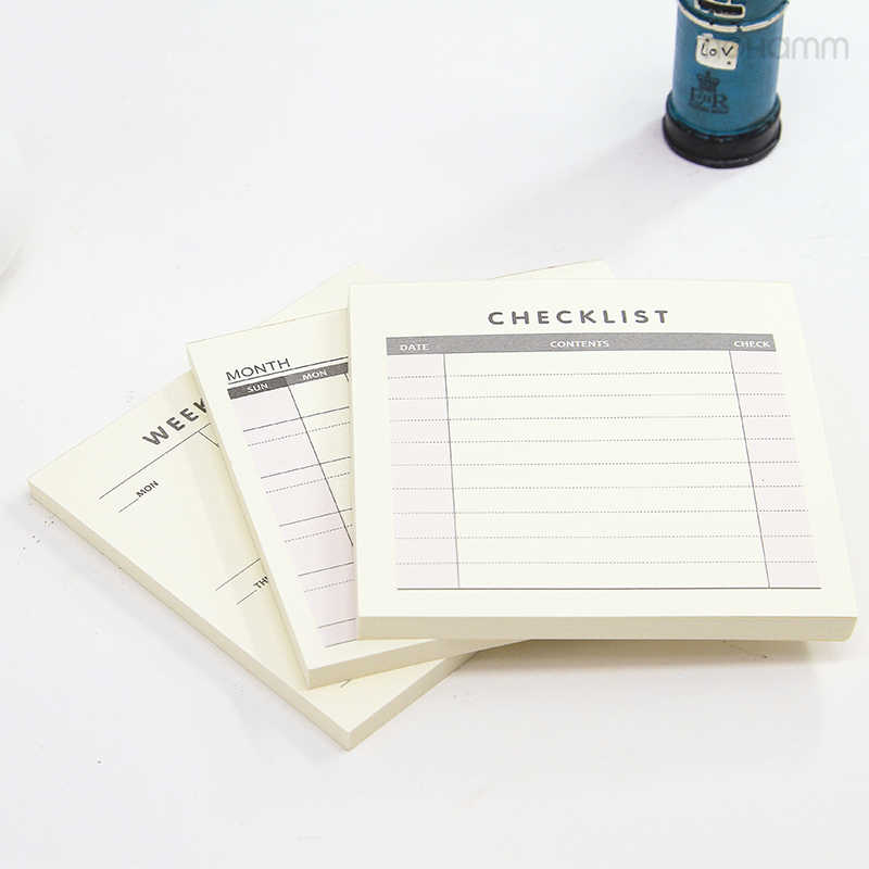 Daily Weekly Monthly Desk Diary Planner Stickers Planner Planning Pads To  Do List Checklist Memo Pad Paper Office
