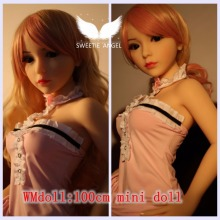 WMDOLL 100cm Mini doll small breast doll Real Full Body Silicone doll sex doll for man