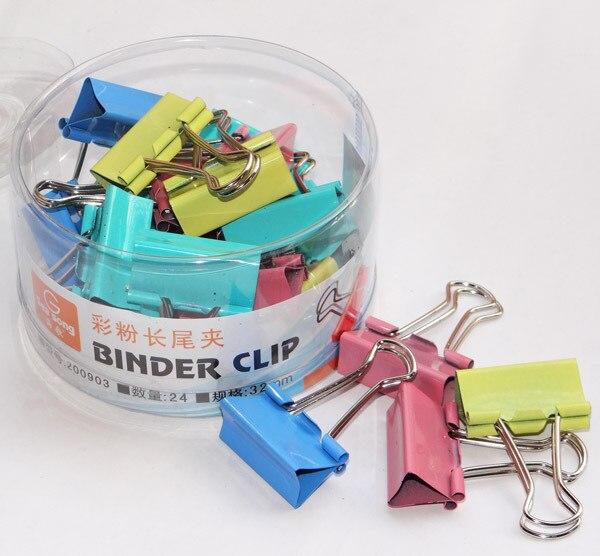 Офисные принадлежности Билла 3-го 32 мм серьги-подвески с шипами отделка данных цвет ласточкин хвост клип 24 шт./кор