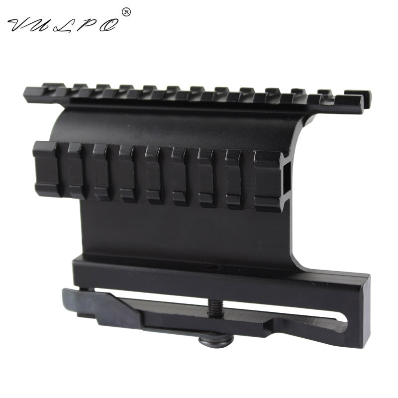 VULPO Hunting Airsoft <font><b>Scope</b></font> <font><b>Mount</b></font> Tactical AK Serie Rail Side <font><b>Mount</b></font> Quick QD Style <font><b>AK47</b></font> AK74 SAIGA Detach 20mm Weaver Rail <font><b>Mount</b></font> image
