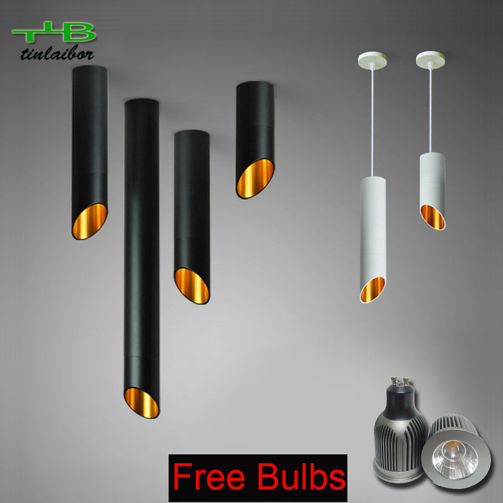 Ceiling Lights Objective Free Bulb 60mm Led Ceiling Light Cord Lamps Gu10 7w Kitchen Company Table Pipe Tube Lamp Dining Room Bar Counter Shop