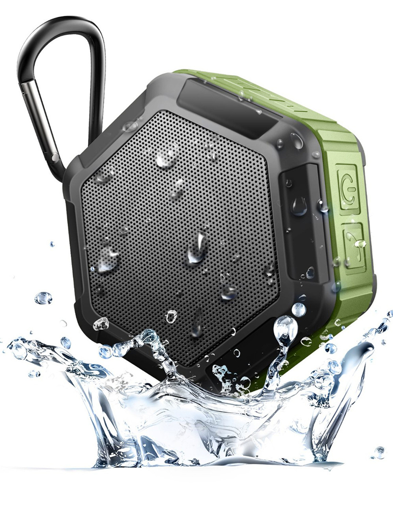 M&J IP67 Waterproof Mini Bluetooth Speaker With Powerful Sub Woofer For Outdoors 2