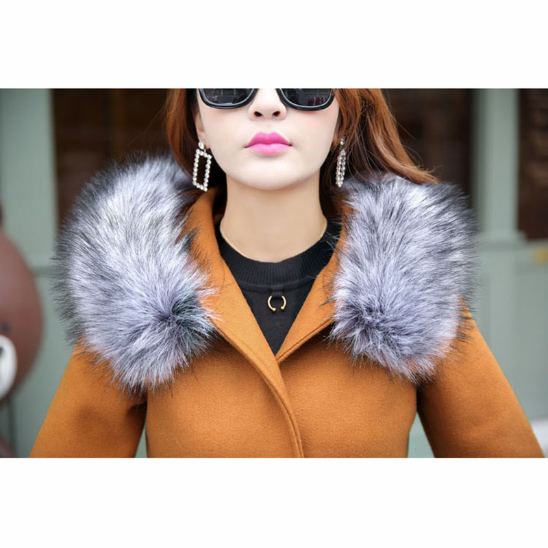 yellow Col Veste Doux Longue Capuchon Nouvelle gray Haute Section Manteau De Fourrure 2018 Black Automne armygreen Femmes À D'hiver Laine Qualité Mode pink Femelle khaki Zw8x8Ogz