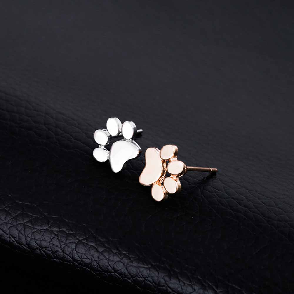 adorable earrings fashion and new paw products dog women print cute stud cat for uhoots
