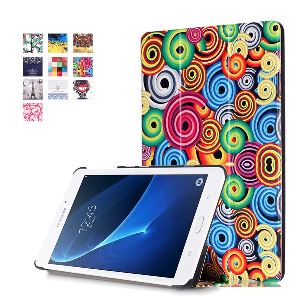 Multicolor Cover for Samsung Tab A6 7.0 2016 Case,Flip PU Leather Tablet Case for Samsun ...